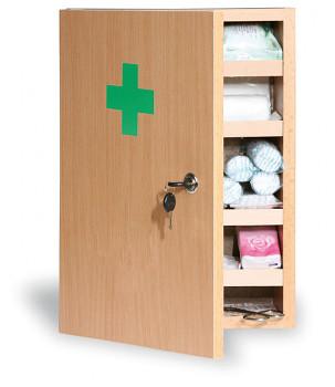 Dřevěné nástěnné lékárničky