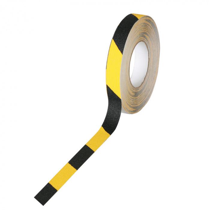 Protiskluzové pásky se zrnem - hrubé zrno, 25 mm x 18,3 m
