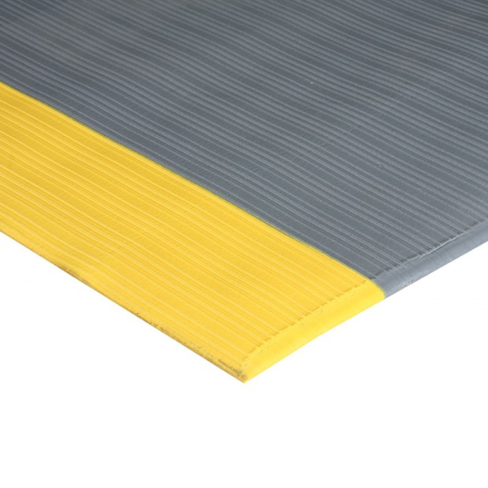 Protiúnavová rohož s drážkami a žlutými okraji