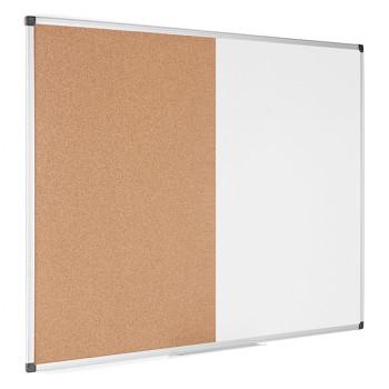 Dělená tabule, korek/magnetická popisovací,  900x600 mm