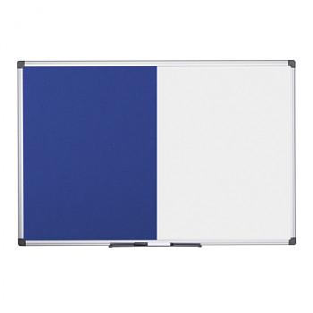 Dělená tabule, magnetická popisovací/textilní,  900x600 mm