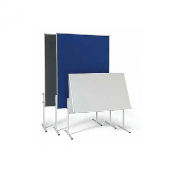 Informační tabule, 1200x1500 mm, šedá textilní sklopná