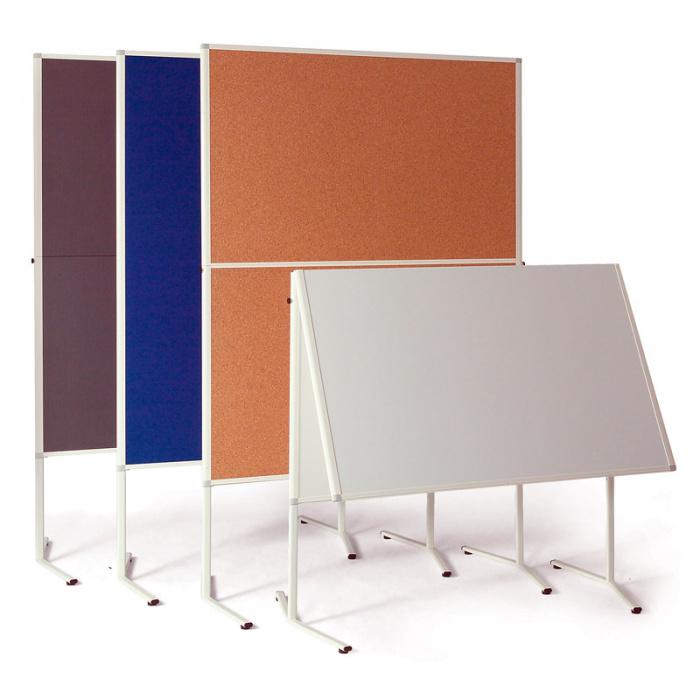 Informační tabule, 1200x1500 mm, korková sklopná