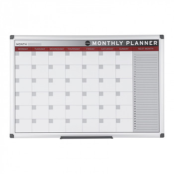 Magnetická tabule plánovací měsíční  600x 450 mm