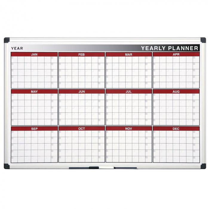 Magnetická tabule plánovací roční denní rozpis týdny