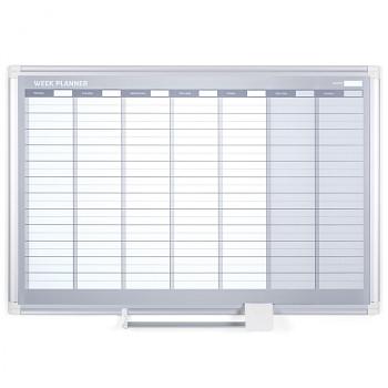 Magnetická tabule plánovací týdenní  900x 600 mm