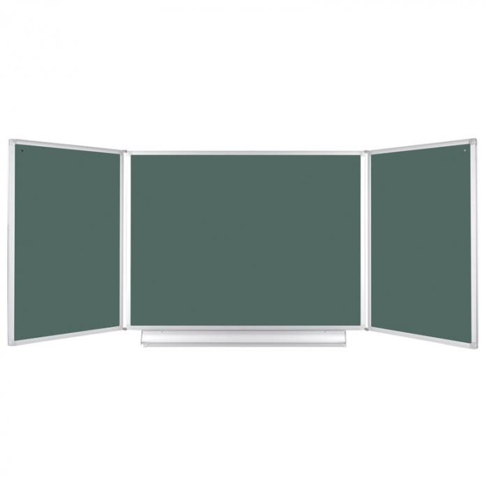 Zelená otevírací magnetická tabule keramická 1200-2400x 900 mm