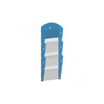 Nástěnné plastové zásobníky na prospekty - 1x3 A4