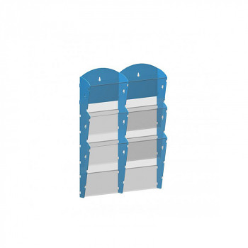 Nástěnné plastové zásobníky na prospekty - 2x3 A4