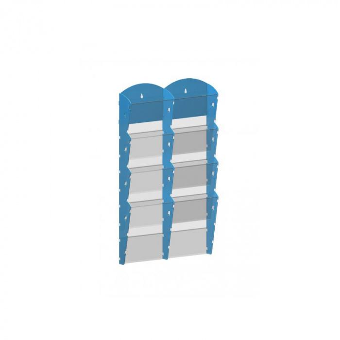 Nástěnné plastové zásobníky na prospekty - 2x4 A4