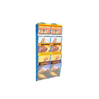 Nástěnné plastové zásobníky na prospekty - 2x5 A5