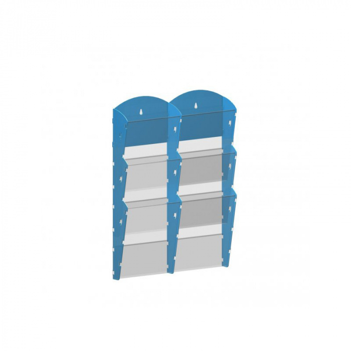 Nástěnné plastové zásobníky na prospekty - 2x3 A5