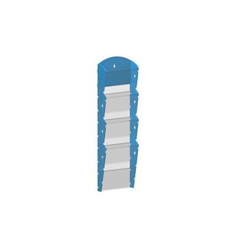 Nástěnné plastové zásobníky na prospekty - 1x4 A5
