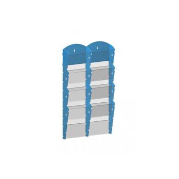 Nástěnné plastové zásobníky na prospekty - 2x4 A5