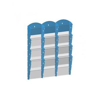 Nástěnné plastové zásobníky na prospekty - 3x4 A5