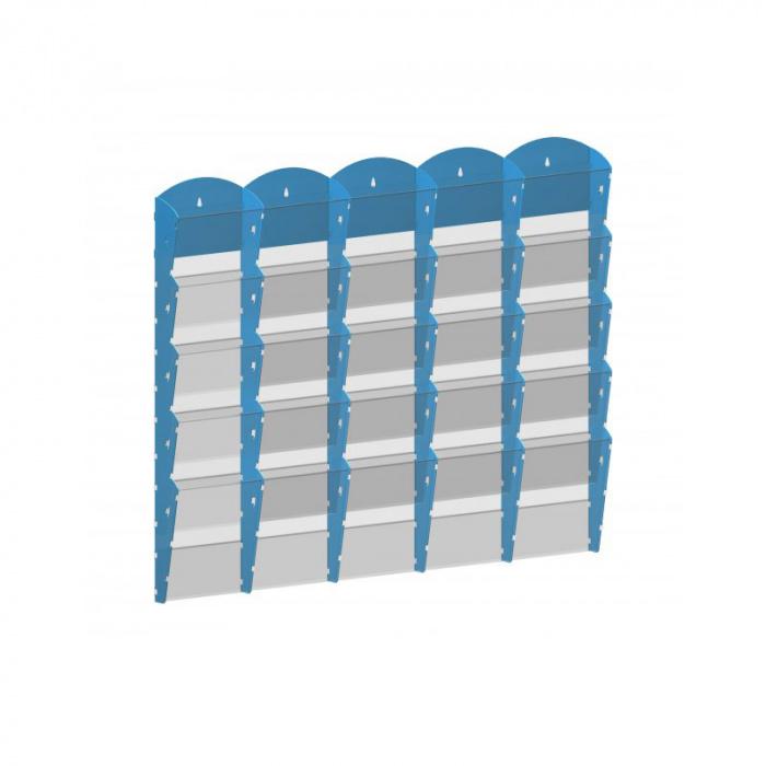 Nástěnné plastové zásobníky na prospekty - 5x5 A5