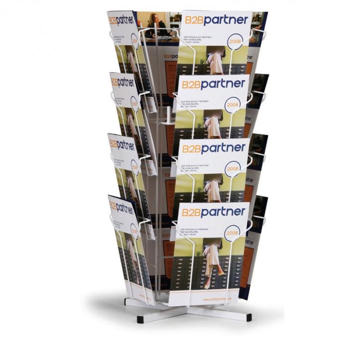 Otočný stolní zásobník na prospekty, 16x A4