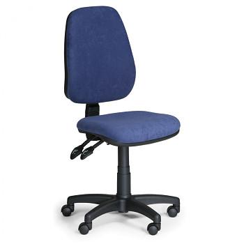 Kancelářská židle ALEX modrá bez područek, plastový kříž