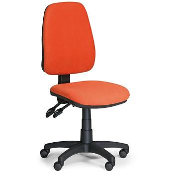 Kancelářská židle ALEX oranžová bez područek, plastový kříž