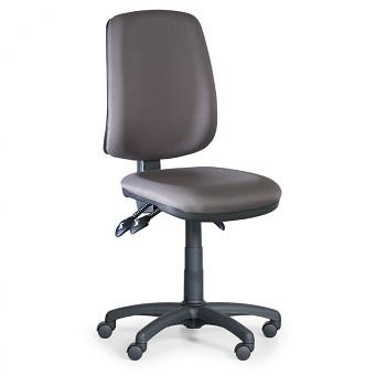 Kancelářská židle ATHEUS šedá bez područek, plastový kříž