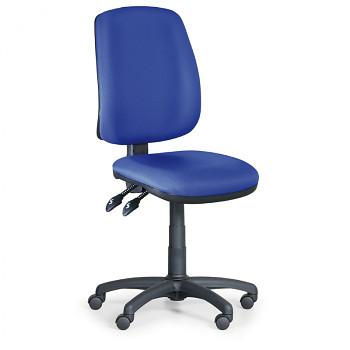 Kancelářská židle ATHEUS modrá bez područek, plastový kříž