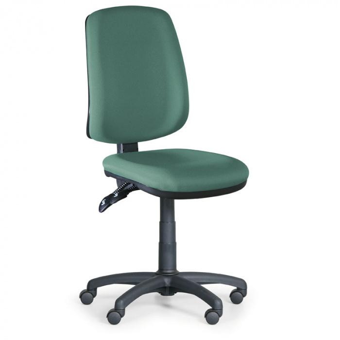 Kancelářská židle ATHEUS zelená bez područek, plastový kříž