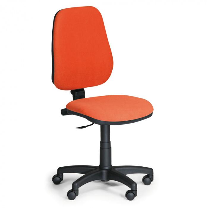 Kancelářská židle COMFORT oranžová bez područek, plastový kříž