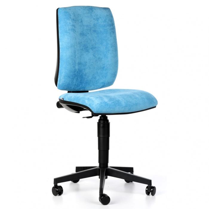 Kancelářská židle FIGO, modrá bez područek