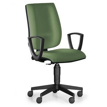 Kancelářská židle FIGO, zelená s područkami