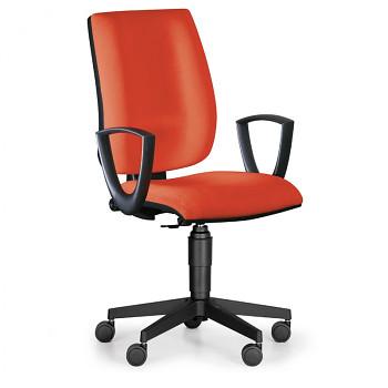Kancelářská židle FIGO, červená s područkami