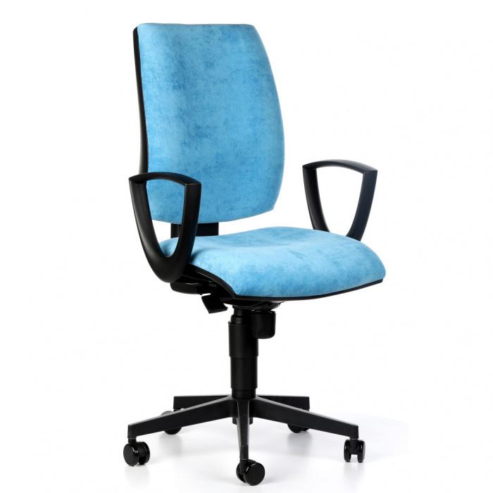 Kancelářská židle FIGO I, modrá s područkami