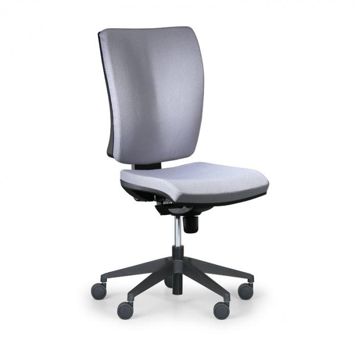 Kancelářská židle LEON PLUS šedá bez područek, plastový kříž