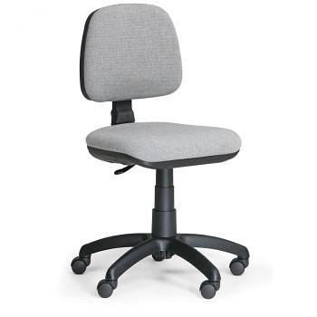 Kancelářská židle MILANO, šedá bez područek, s kolečky