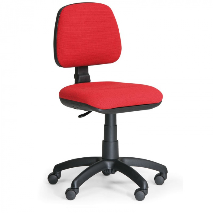 Kancelářská židle MILANO, červená bez područek, s kolečky