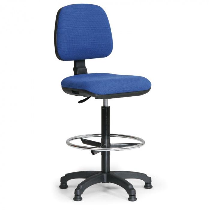 Kancelářská židle MILANO, modrá bez područek, s kluzáky