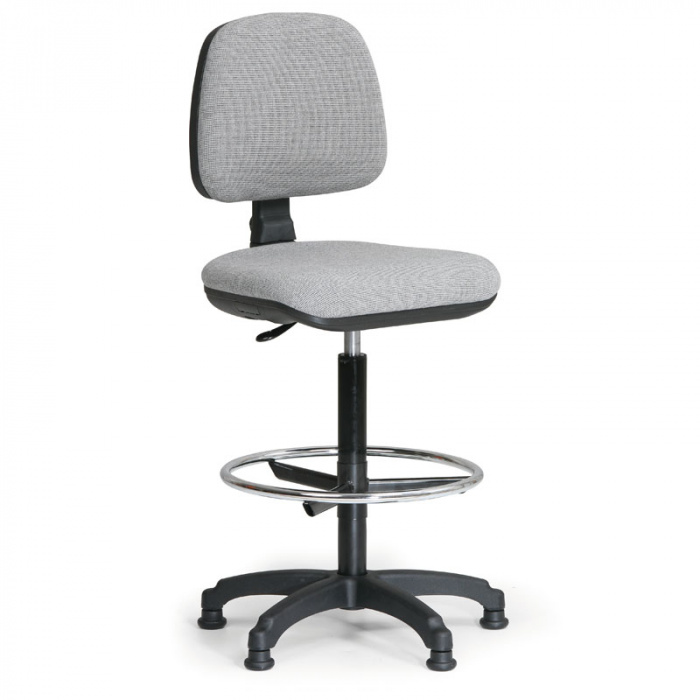Kancelářská židle MILANO, šedá bez područek, s kluzáky