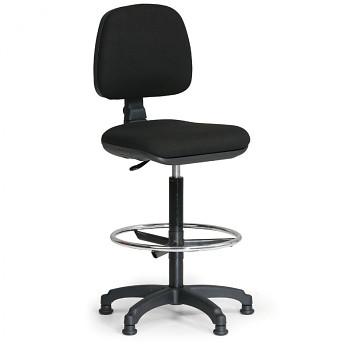 Kancelářská židle MILANO, černá bez područek, s kluzáky