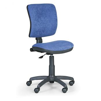Kancelářská židle MILANO I, modrá bez područek, s kolečky