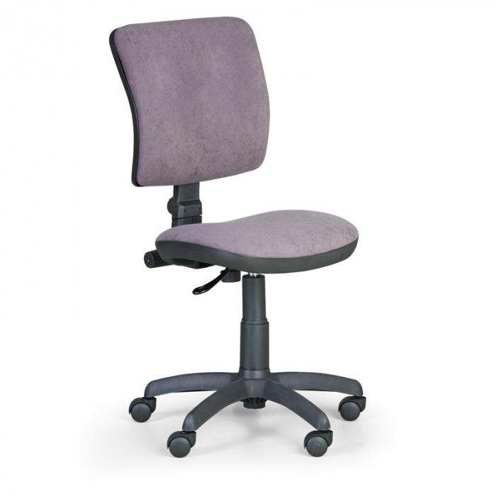 Kancelářská židle MILANO I, šedá bez područek, s kolečky