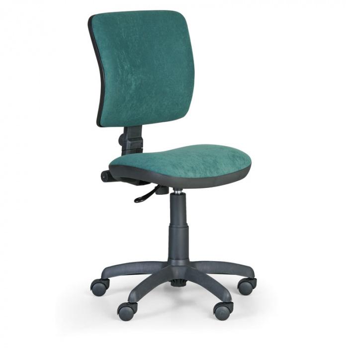 Kancelářská židle MILANO I, zelená bez područek, s kolečky