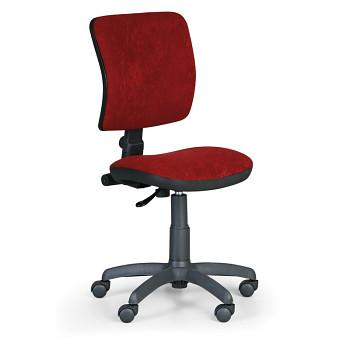 Kancelářská židle MILANO I, červená bez područek, s kolečky
