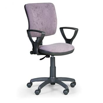 Kancelářská židle MILANO I, šedá s područkami, s kolečky