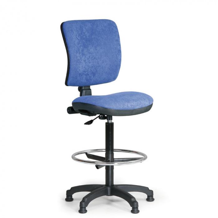 Kancelářská židle MILANO I, modrá bez područek, s kluzáky