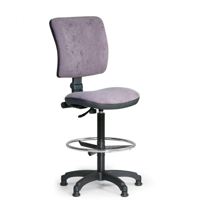 Kancelářská židle MILANO I, šedá bez područek, s kluzáky