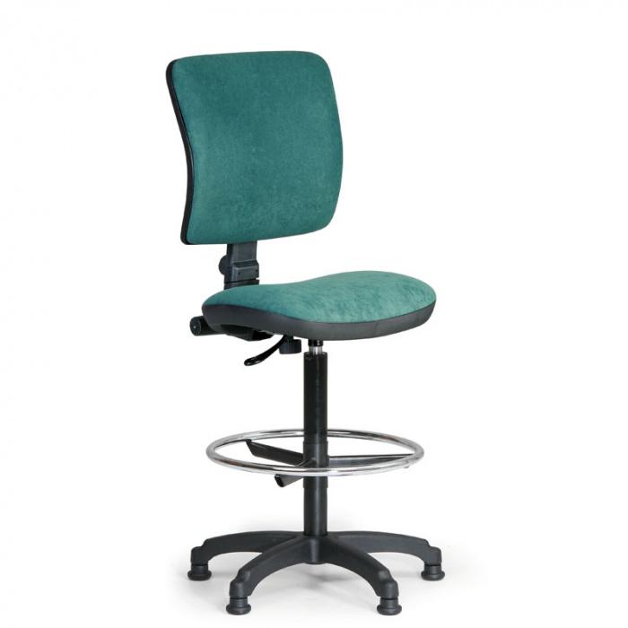 Kancelářská židle MILANO I, zelená bez područek, s kluzáky