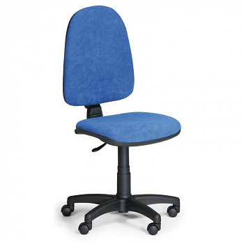 Kancelářská židle TORINO, modrá bez područek, plastový kříž