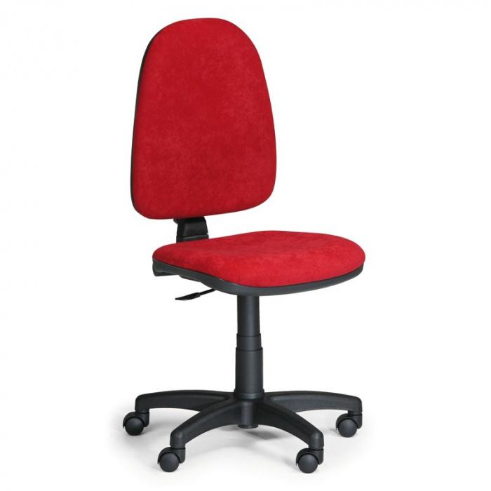 Kancelářská židle TORINO, červená bez područek, plastový kříž