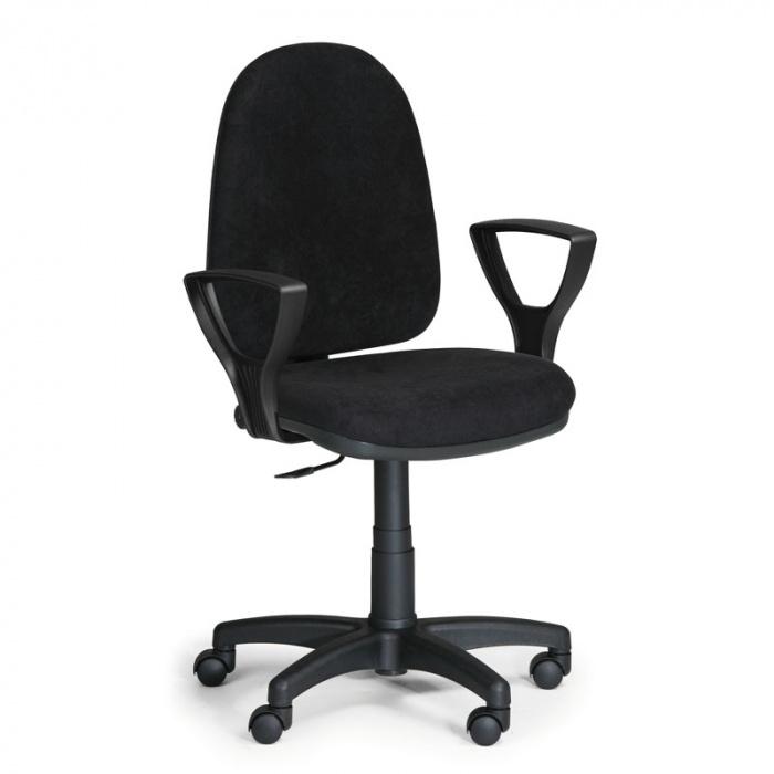Kancelářská židle TORINO, černá s područkami, plastový kříž