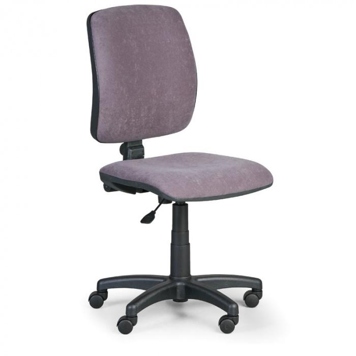 Kancelářská židle TORINO I, šedá bez područek, plastový kříž