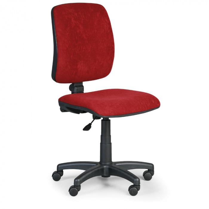 Kancelářská židle TORINO I, červená bez područek, plastový kříž